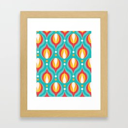 Colorful Dewdrops Framed Art Print