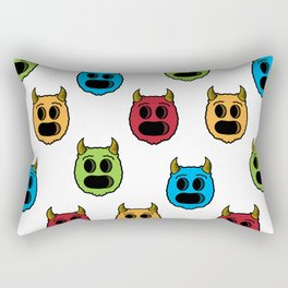 Monster Pattern Rectangular Pillow