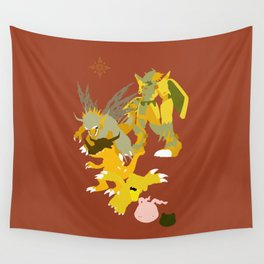 Agumon digivolution line Wall Tapestry
