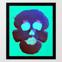 Apple of My Eye Skull  Art Print