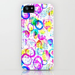 Sweet As Candy - colorful watercolor pattern by Lo Lah Studio iPhone Case