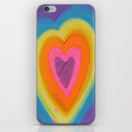 Hot Pink Heart iPhone Skin