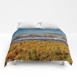 The Grand Tetons Panorama Comforters