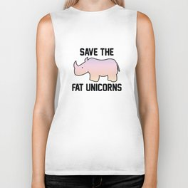 Save The Fat Unicorns Biker Tank