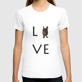 French Bulldog Love Art Print T-shirt