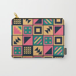 Colorful Geometric Floor Tile Pattern Carry-All Pouch