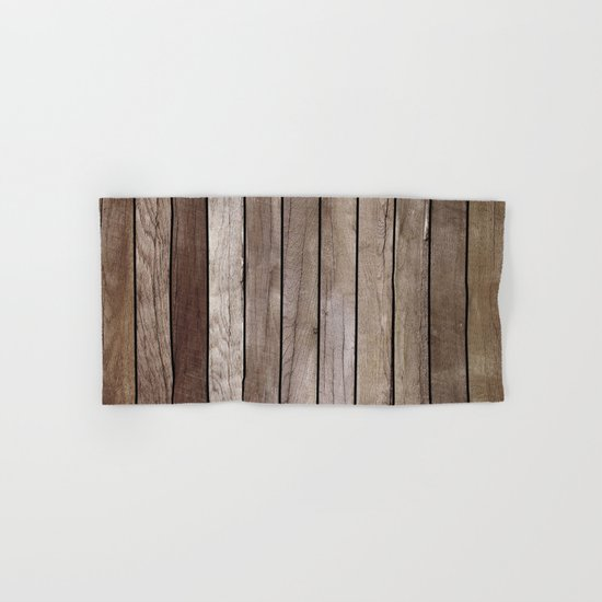 Wooden Texture Hand & Bath Towel