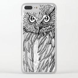 Fierce Owl Clear iPhone Case