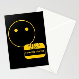 Voiceless: Hello My Name is Nouvelle Norme Stationery Cards