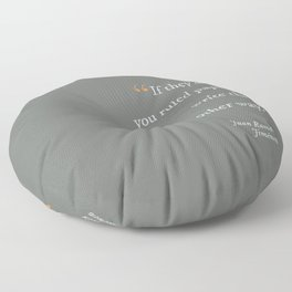 Write the Other Way Floor Pillow