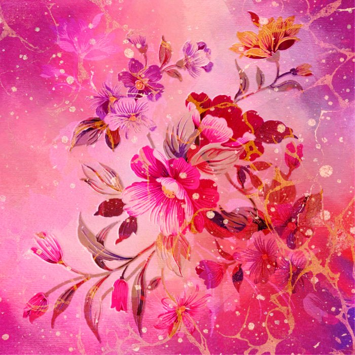 pink floral with white dots Comforters