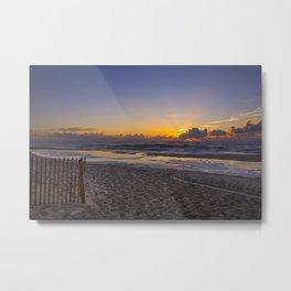Beach Sunrise II Metal Print