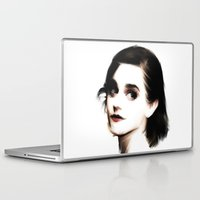 emma watson Laptop & iPad Skins featuring EMMA by André Joseph Martin