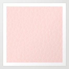 Pink Coral Leatherlike Art Print