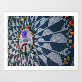 Imagine in Strawberry Fields Art Print
