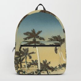 Palms and clear skies Backpack
