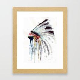 Indian Headress Framed Art Print
