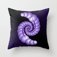hook Throw Pillows featuring Julia's Hook by artsytoocreations