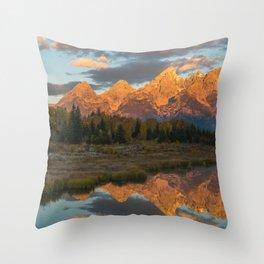 Sunrise On The Snake River Throw Pillow