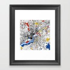 philadephia map Framed Art Print