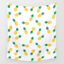 PINEAPPLE ANANAS FRUIT FOOD PATTERN Wall Tapestry