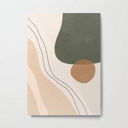 Minimal Abstrac Shapes 14 Metal Print