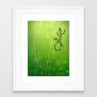 lizard Framed Art Prints featuring lizard by Antracit