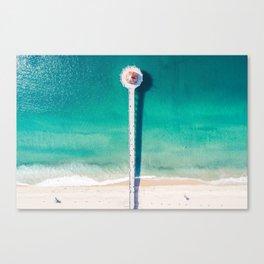 Aerial of Manhattan Beach pier Canvas Print