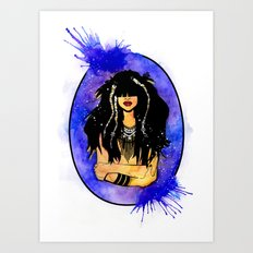 Night Sea Nereid Art Print