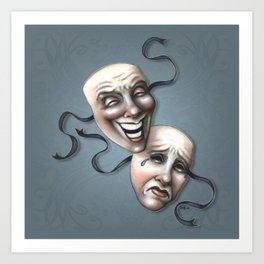 Comedy Tragedy Theater Masks Art Print