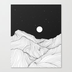 Lines in the mountains II Canvas Print
