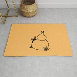 Gourd - Orange daylily Rug