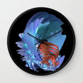 Blue Shell Wall Clock