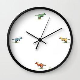 8-Bit T-Rex Wall Clock