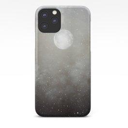 Glowing Moon in the night sky iPhone Case