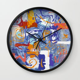 Shamanic Painting 01 Wall Clock