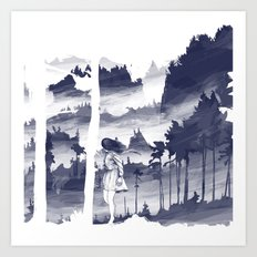 Windy day - #1 Art Print