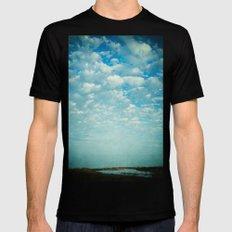 Where Sea and Sky Meet Mens Fitted Tee Black MEDIUM