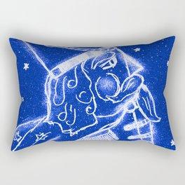 Nutcracker in Bright Blue Rectangular Pillow