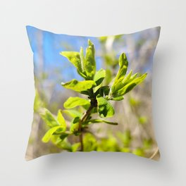 First Leaves of Spring Throw Pillow