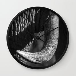 Elephant Tusk Wall Clock