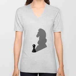 Chess horse farmer Shadow Player Present gift Unisex V-Neck