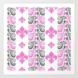 Fluer de Lis Custom Pink Art Print