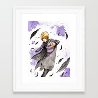 leon Framed Art Prints featuring Leon by Owly Fa