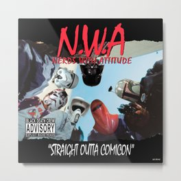 N.W.A (Nerds With Attitude) Straight Outta Comicon Metal Print