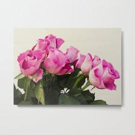 Flowers - pink roses Metal Print