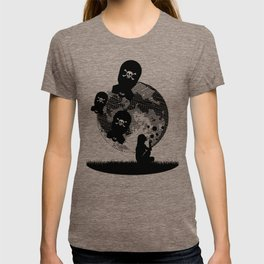 Bubbles and Bombs Away (Etching Sketch) T-shirt