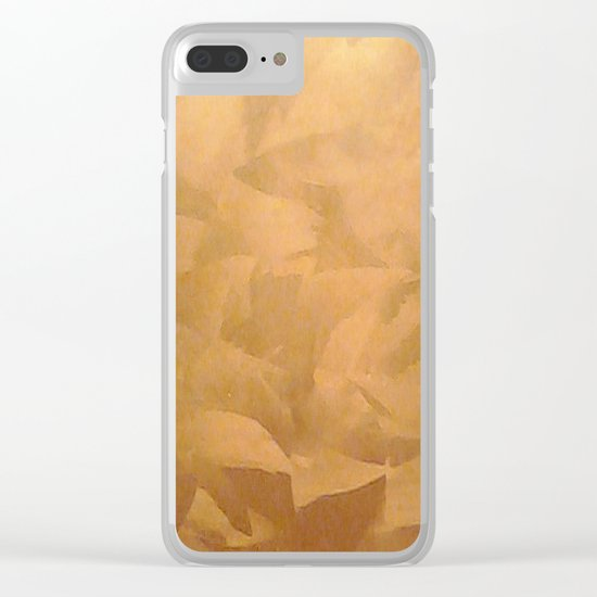 Brushed Copper Metallic - Beautiful - Rustic Glam - Fancy Faux Finishes - Unique Clear iPhone Case