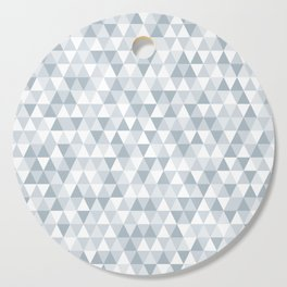 shades of ice gray triangles pattern Cutting Board