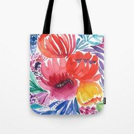 Vibrant Floral Movement Tote Bag
